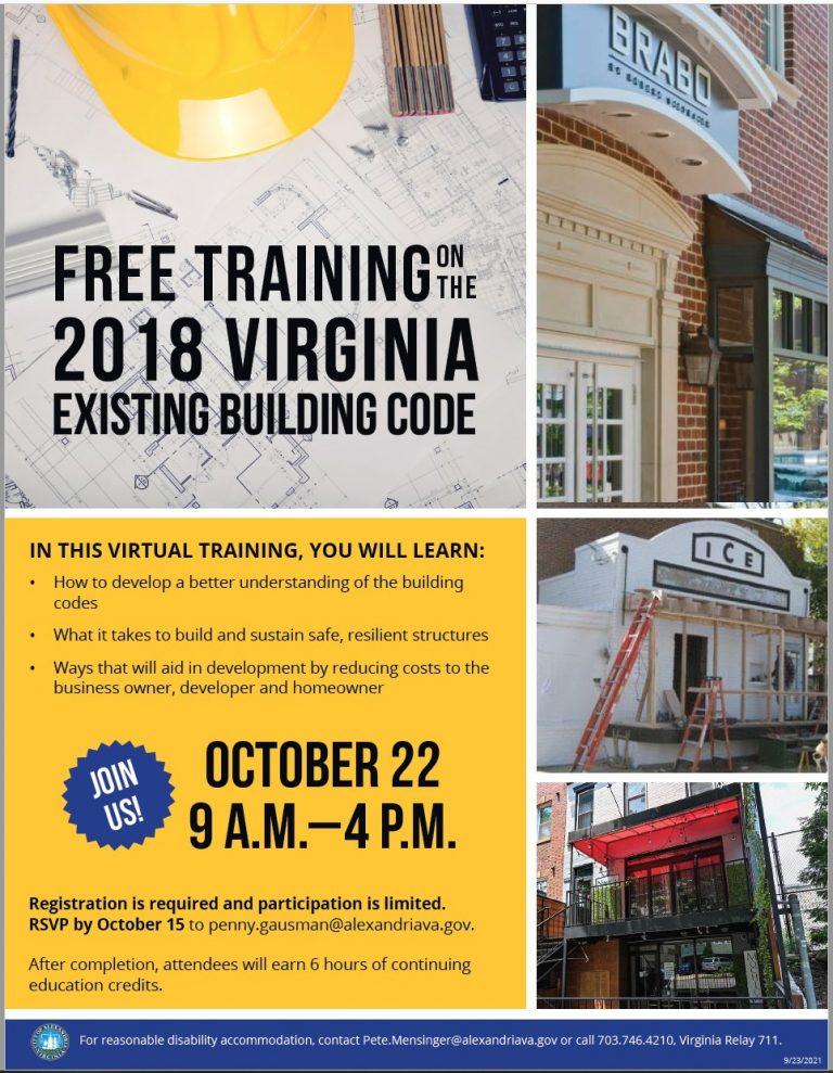 VBCOA 2018 Virginia Existing Building Code
